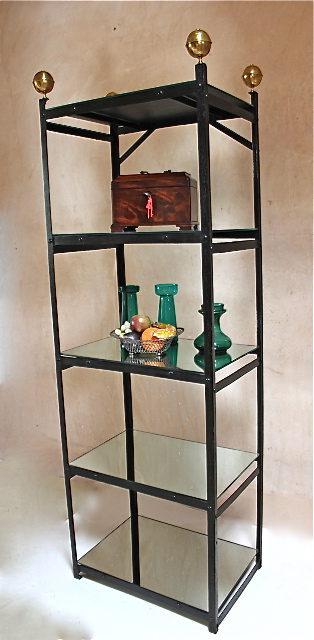 19th Century Free-standing Metal Shelf Unit.
