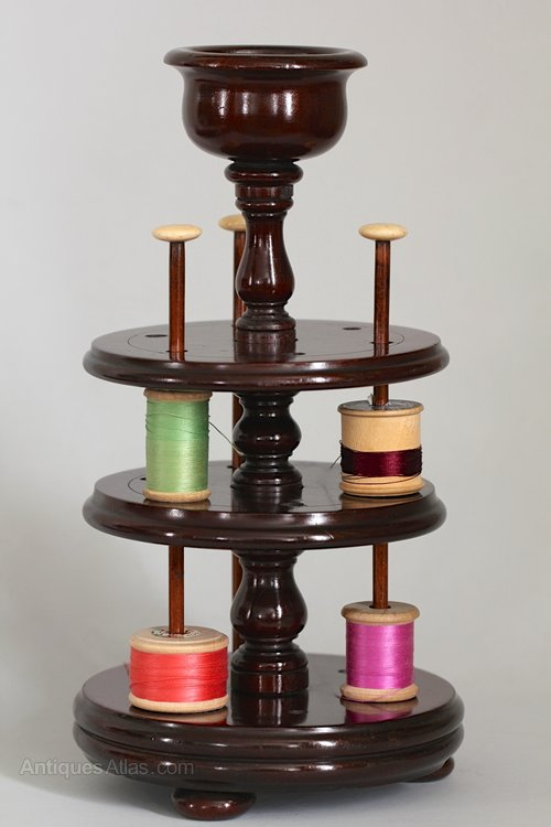 19th Century Mahogany Cotton Reel Stand. S191