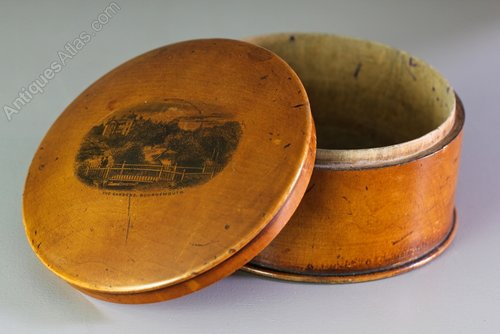19th Century Mauchline Ware Box.