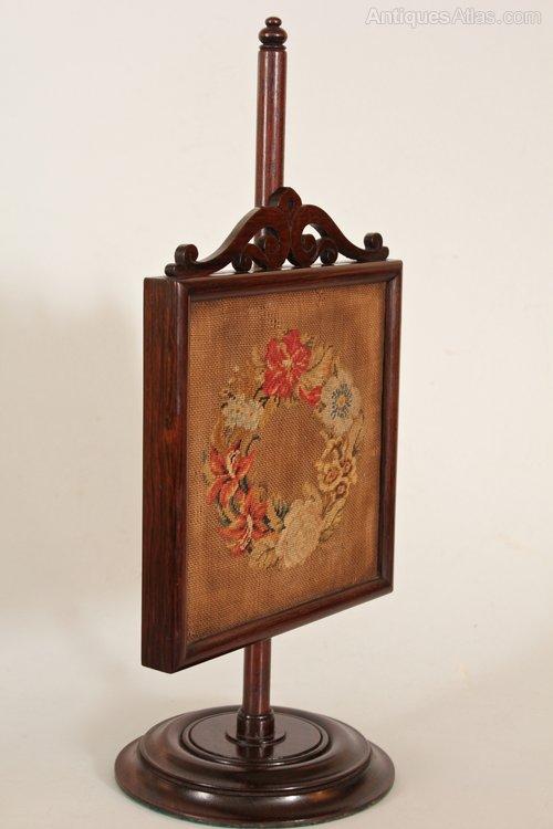 19th Century Miniature Treen Fire Screen. U96