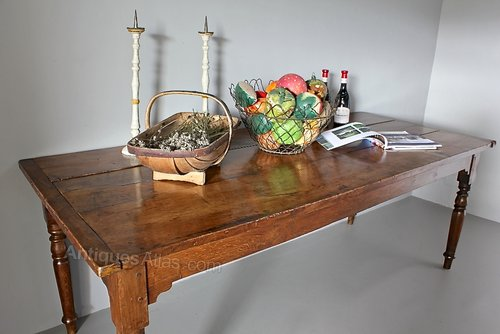 19th Century Oak Farm House Table. U476