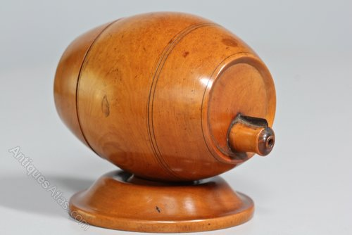 19th Century Treen Boxwood String Holder. U767