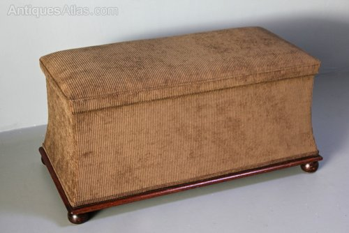 19th Century Upholstered Ottoman.