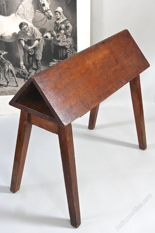 Antique Army & Navy Campaign Saddle Stand. U877