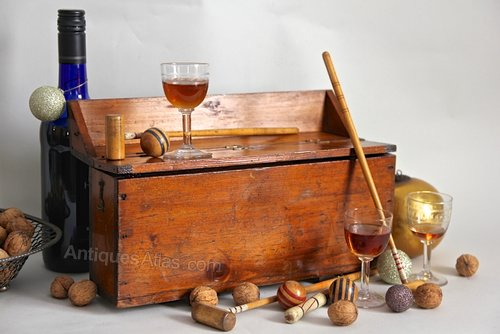 Antique Boxed Table Croquet Game. U812