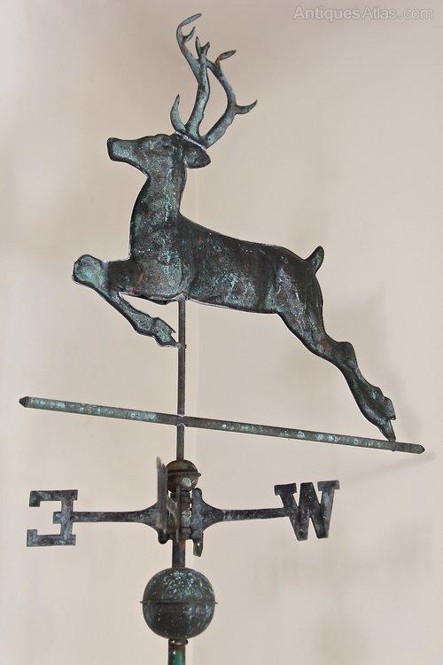 Antique Deer Copper Weathervane. U967