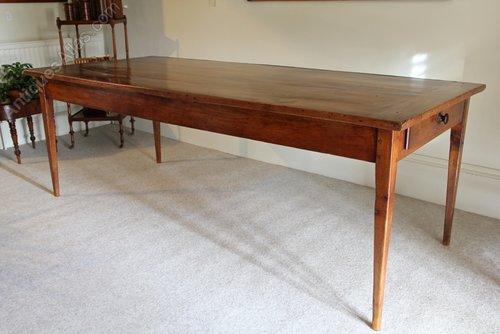 Antique Fruitwood Farmhouse Dining Table. U761