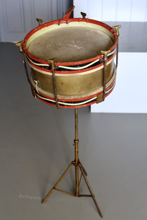 Antique Hawkes & Son Drum on Stand