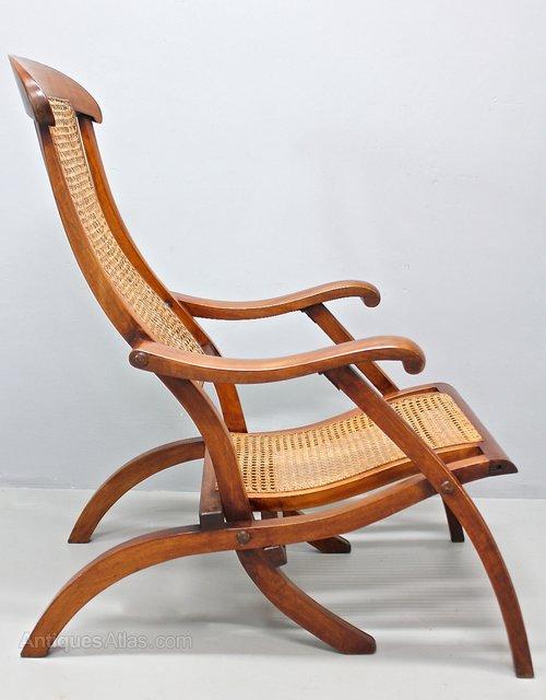 Antique Mahogany Steamer Arm Chair. U379