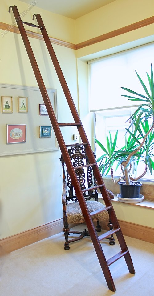 Antique Victorian Library Ladder.
