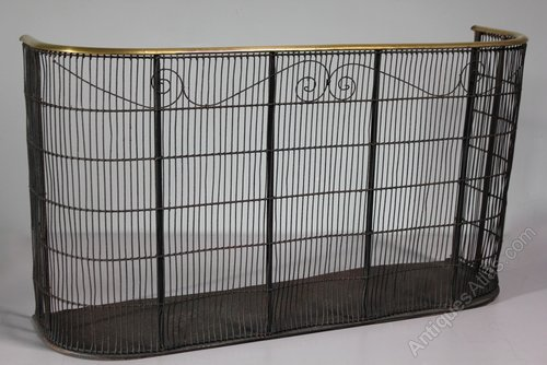 Antique Wire and Brass Nursery Fireguard. T167
