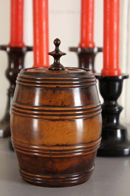 Early 19th Century Treen Tobacco Barrel. T776