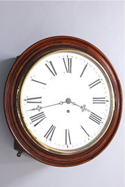 Oak Cased Victorian Fusee Wall