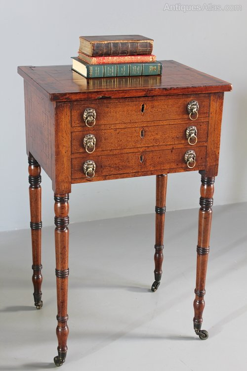 Regency Mahogany Work/Occasional Table. U386