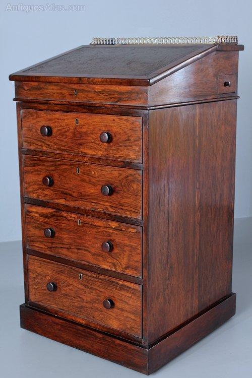Regency Rosewood Davenport Desk. T4