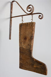 Rustic Antique Wooden Boot Han
