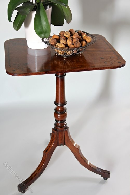 Small Regency Mahogany Tripod Table. U718