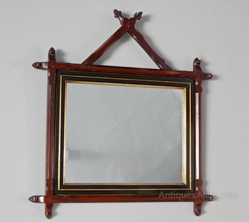 Victorian Aesthetic Carved Frame Mirror. U172
