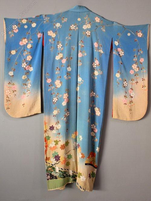 Vintage Silk Japanese Kimono. K10