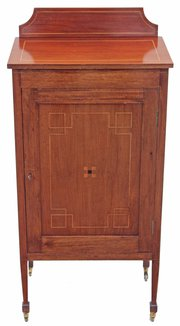 Edwardian inlaid mahogany or r