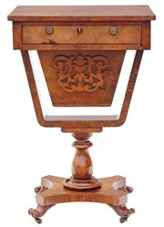 Victorian 19C walnut games wor