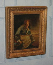 Victorian oil of a red haired