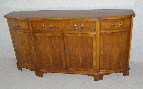 Antiques Atlas 1960s Very Clean Bow End Yew Wood Sideboard