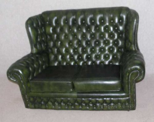 Antiques Atlas Chesterfield 2 Seater High Back Leather Sofa