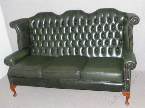 Antiques Atlas Chesterfield High Back 3 Seater Sofa