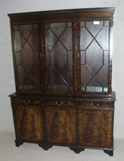 Dark Mahogany 3 door bookcase