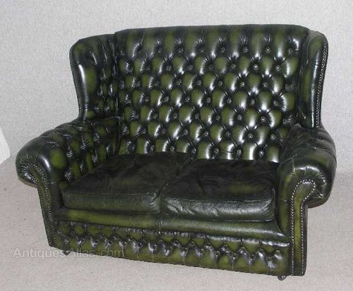 antiques atlas green chesterfield 2 seater high back sofa. Black Bedroom Furniture Sets. Home Design Ideas