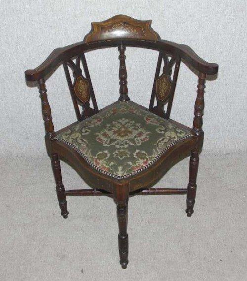 mahogany elegant corner chair antiques atlas