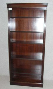 Tall Mahogany Open Bookcase
