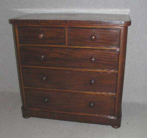 Corner Chest Of Drawers ~ Victorian mahogany round corner chest of drawers