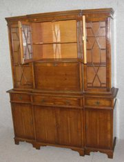 Yew  Glazed Top Bookcase  Dres