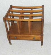 small mahogany magazine rack