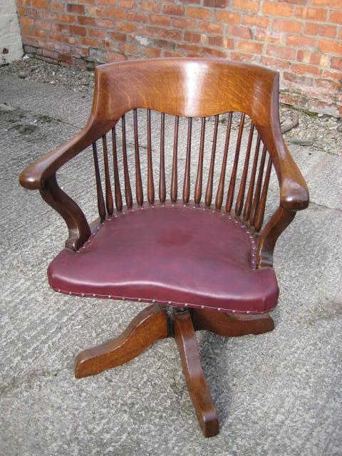 OAK Swivel And Tilt Desk Chair Antiques Atlas