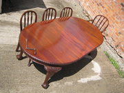 Oval MAHOGANY extending dining