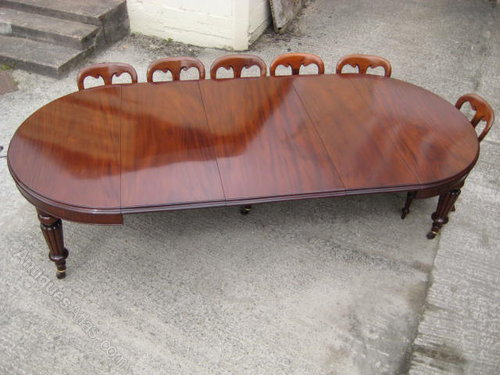 Victorian mahogany 12 seater dining table antiques atlas for 12 seater dinning table