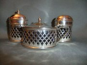 1920s Three Piece Silver Condi