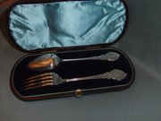 Victorian Silver spoon and For