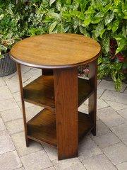 Art Deco oak book table