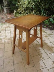 Arts & Crafts A frame oak table for Liberty