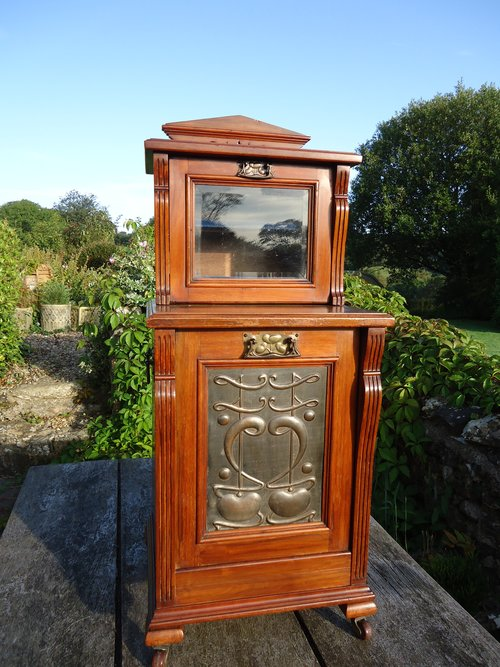 Arts & Crafts Bedside or Fireside cabinet