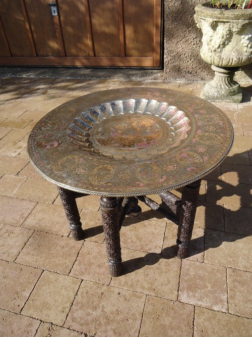 Arts & Crafts Benares table