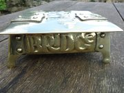 Arts & Crafts Brass Bridge Box