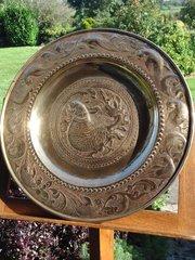 Arts & Crafts Brass Persian Charger. Keswick