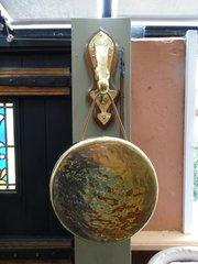 Arts & Crafts Brass Wall Gong