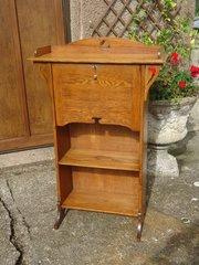 Arts & Crafts Bureau bookcase in oak