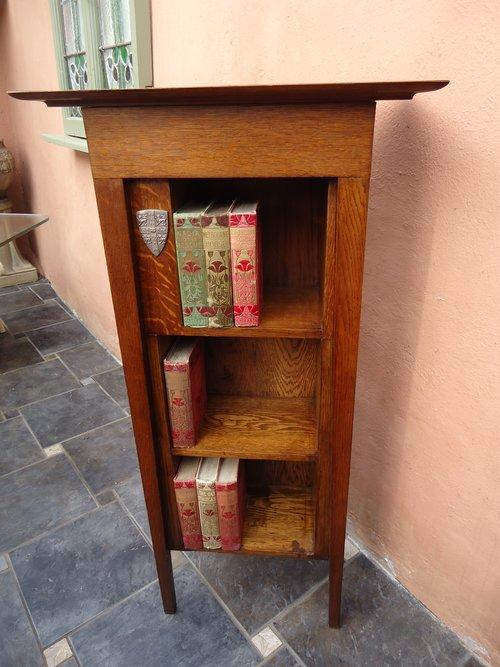 Arts & Crafts Cambridge oak bookcase
